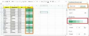 Add Heatmaps Using Conditional Formatting