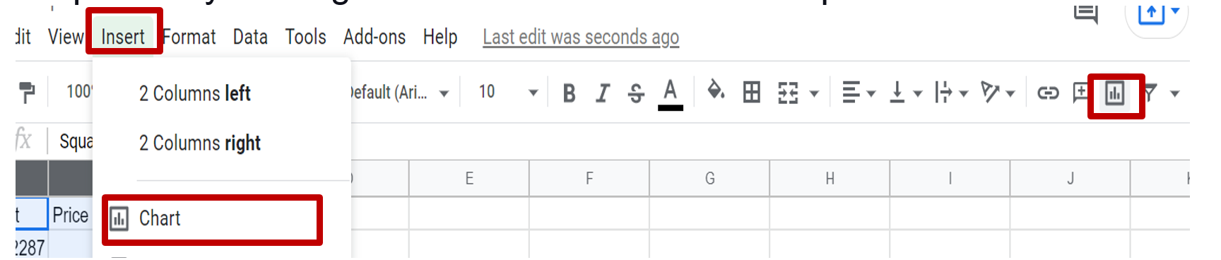Click-on-Insert-Chart