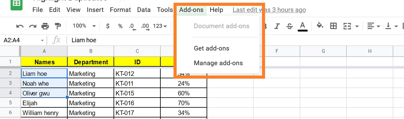 Extend Google Sheets with Add-ons