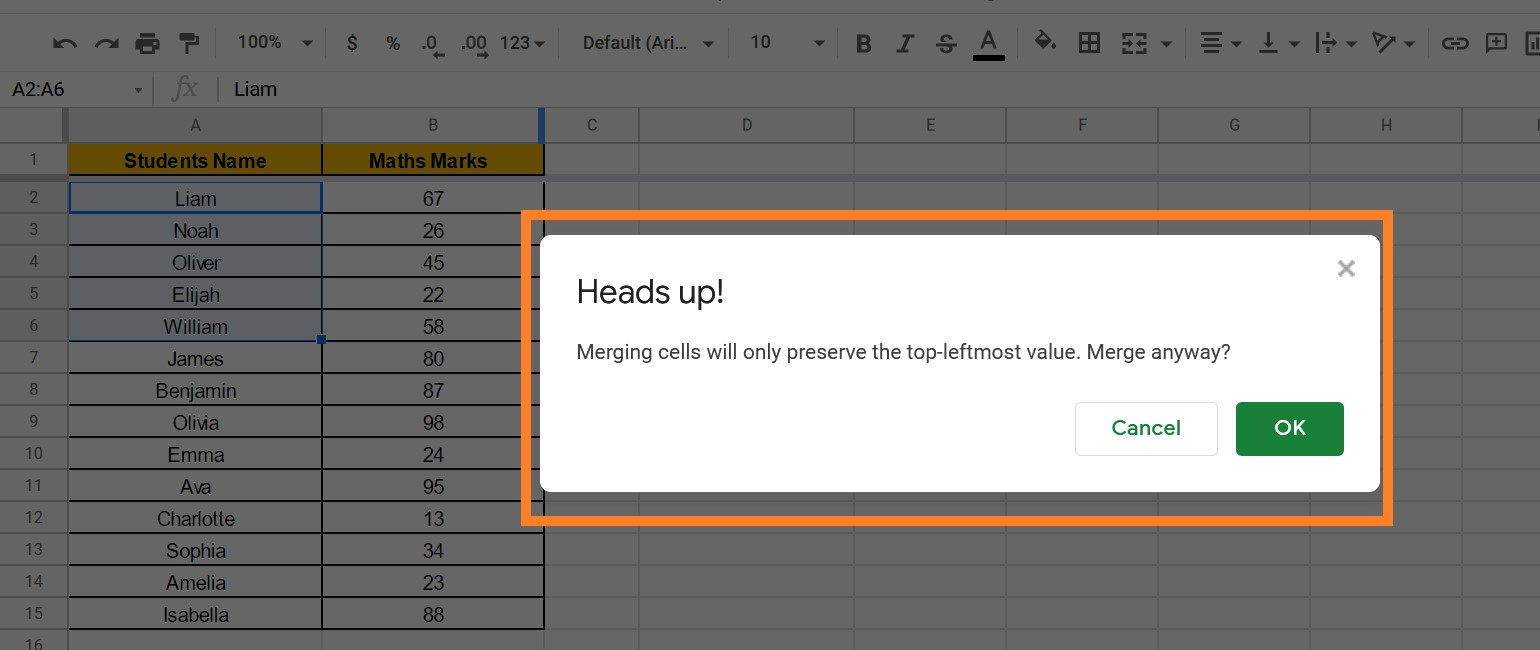 How to Quickly Merge Cells in Google Sheets