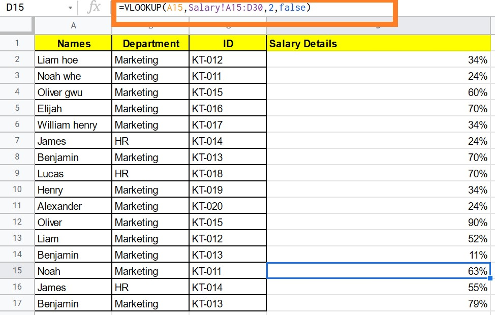 How to VLOOKUP from Another Sheet in Google Sheets
