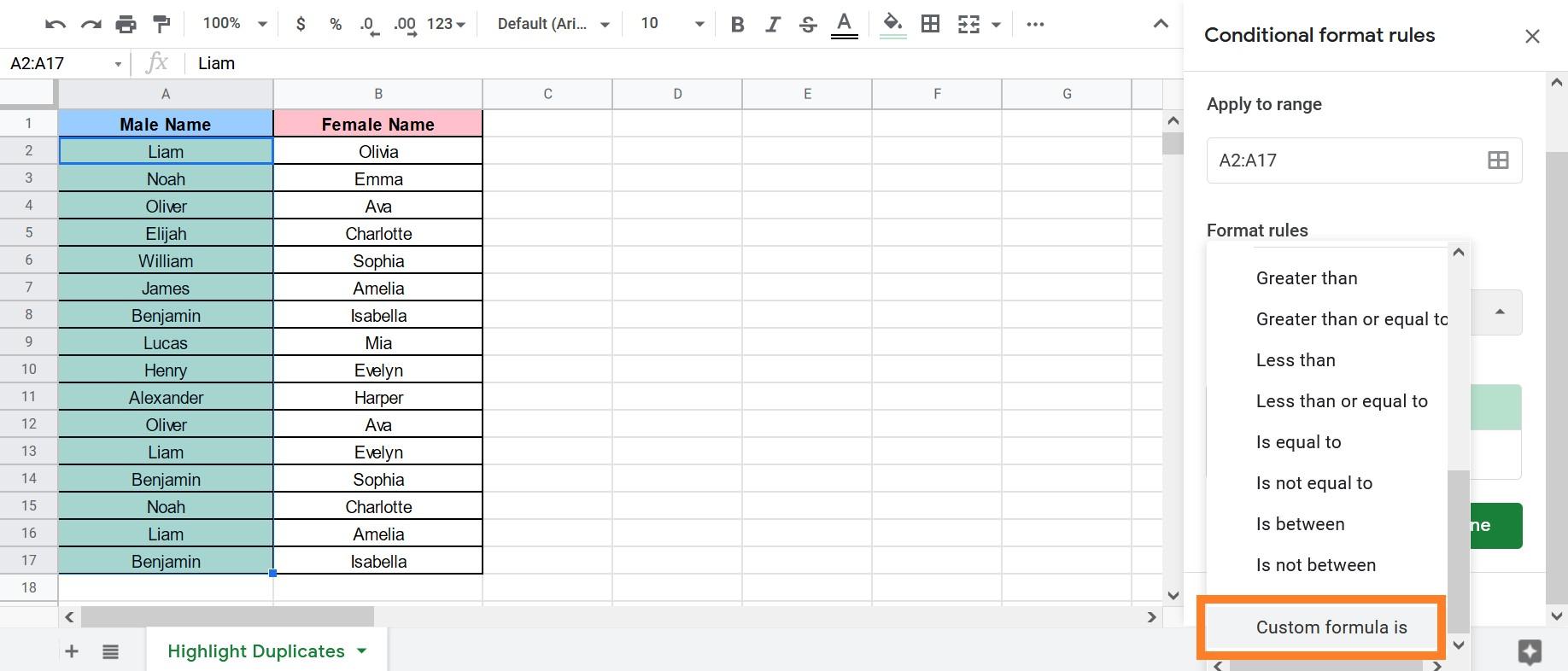 google sheets duplicate row