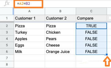 How to Compare Two Columns in Google Sheets