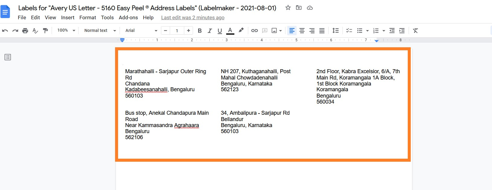 How to Print Labels from Google Sheets