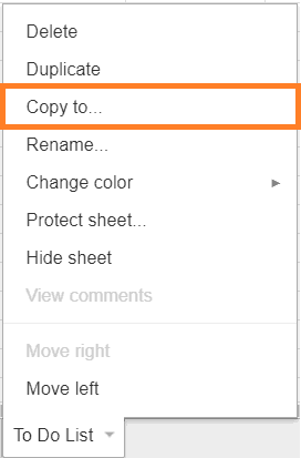 how to copy and paste from one google sheet to another