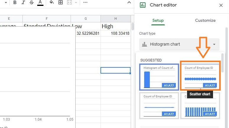 bell curve in google sheets8