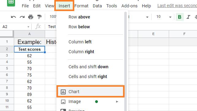 histogram chart in google sheets2