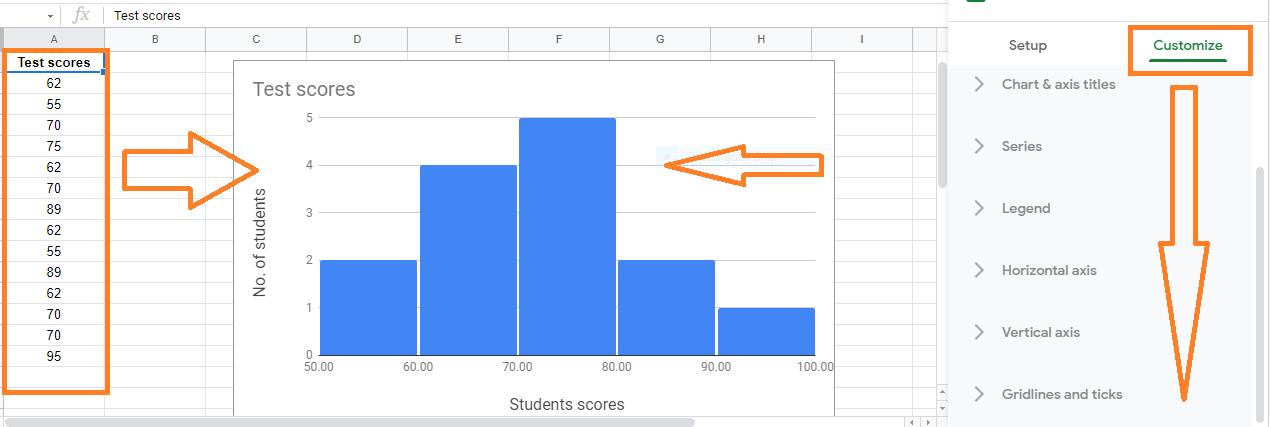 histogram chart in google sheets4