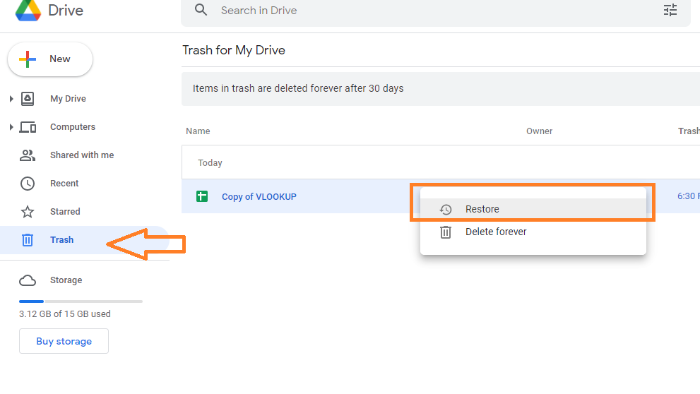 How To Recover Deleted Google Sheets Files