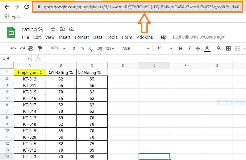 importrange in google sheet