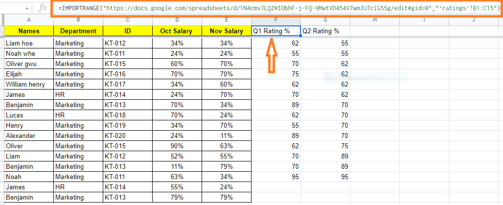 importrange in google sheet3