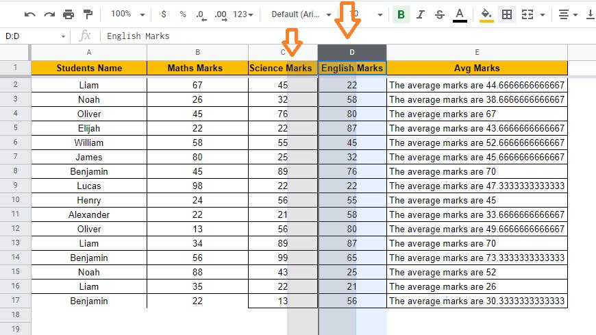 move-column-in-google-sheets