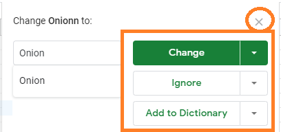 spell check in google sheets