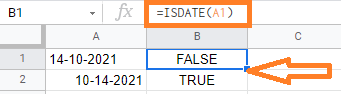 date or text value google sheets