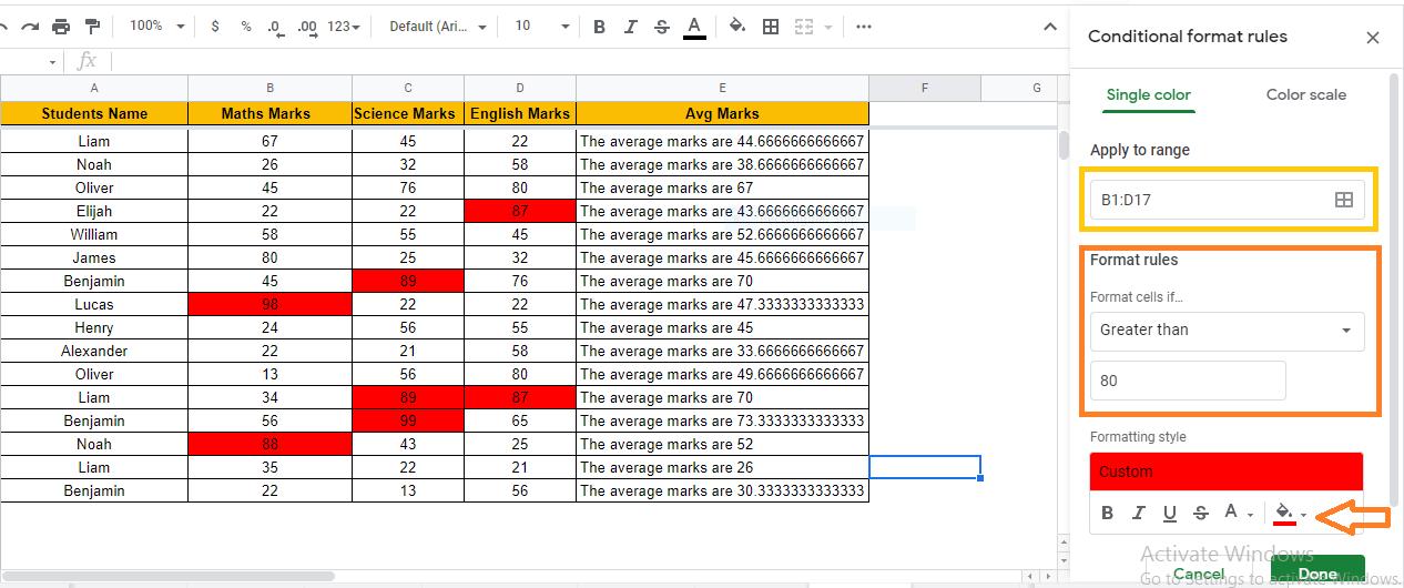heatmap in google sheets