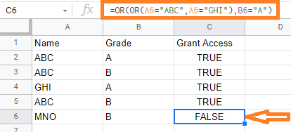 google sheets or function