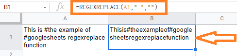 regexreplace google sheets