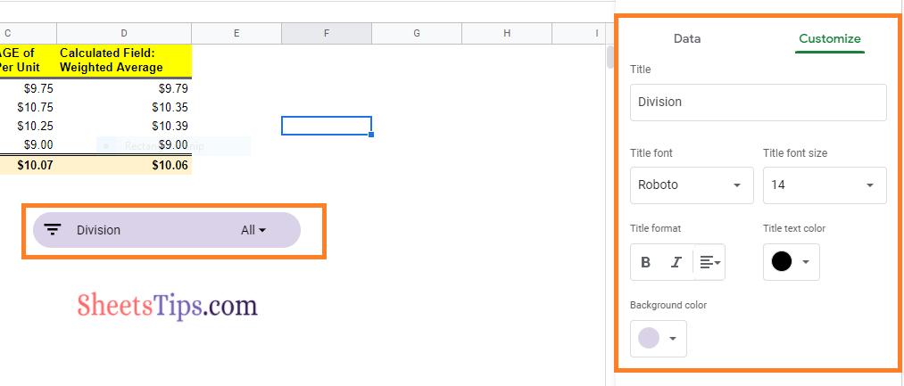 slicer-google-sheets