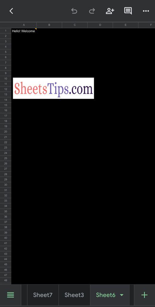 Use Dark theme in Google Sheets